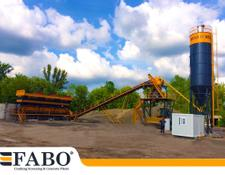 Fabo 75m3/h STATIONARY CONCRETE MIXING PLANT